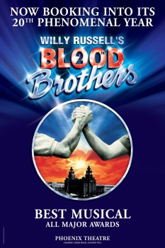 Blood Brothers musical theatrical poster - London's Most Popular Theatre Shows